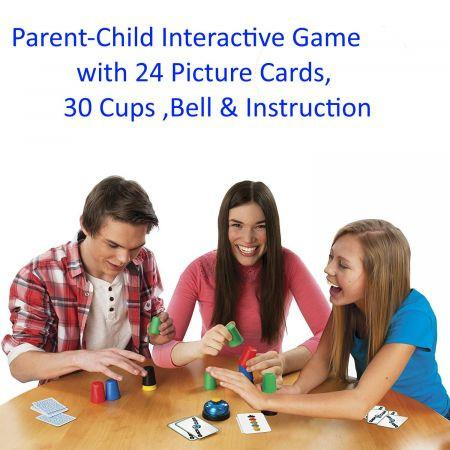 Image of Family Cups Games for Kids,Classic Speed Cup Game for Parent-Child Interactive Stacking Cups Game
