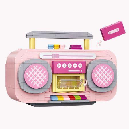 Endless Fun  419PCS Diamond Block  FM Radio Pink Queen Puzzle