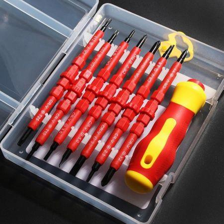 Screwdriver Tools Set 7 In 1 Insulated Electrician Screwdriver