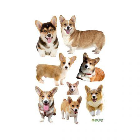 Image of 3D Wall Stickers Dogs PVC Self Adhesive Removable DIY Decoration Corgi