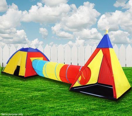 Kids Teepee Tunnel Play Tent