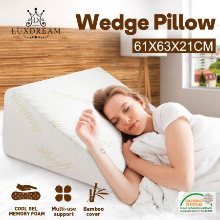 Image of Luxdream Wedge Pillow of Memory Foam and Cooling Gel Leg Elevation Pillow