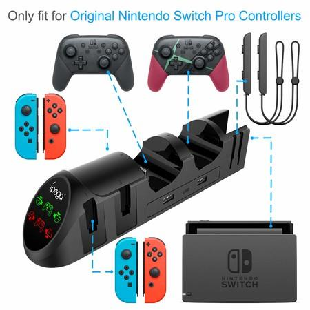 Image of Charger Station for Nintendo Switch Joy-Cons Pro Controllers with USB 2.0 Plug and USB 2.0 Ports