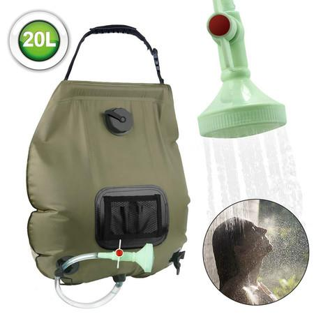 Image of 20L Collapsible Foldable shower Water Bath bag