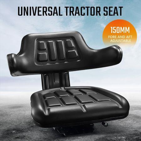 Black PU Leather Tractor Seat Excavator Forklift Truck Seat Universal Chair