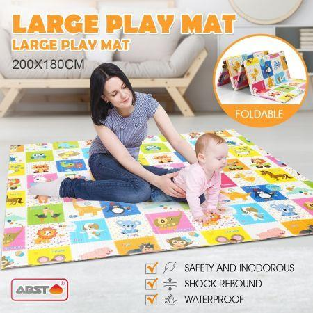 180cm x 200cm Colorful Baby Kid Play Mat w/Alphabet Animal Texture