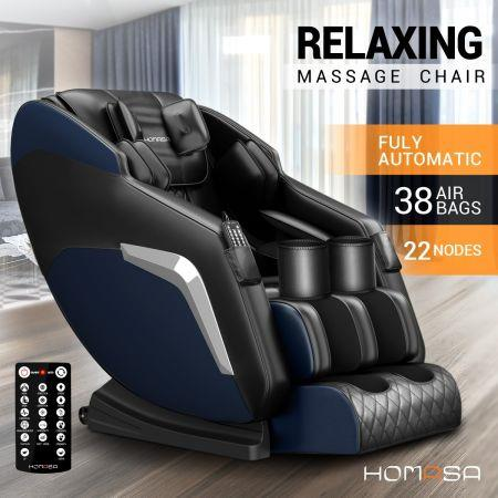 HOMASA Blue Full Body Massage Chair Zero Gravity Recliner