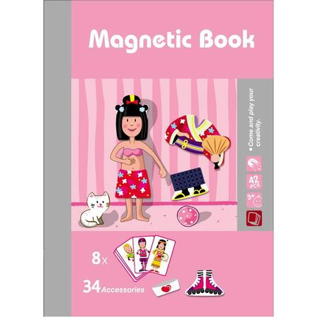 Image of Girls Magnetic Puzzles Book Series Educational Toys Gift for Kids Age3+