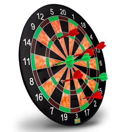 Image of Magnetic Dart Board Excellent Indoor Game and Party Games Magnetic Dart Board Toys for 5 6 7 8 9 10 11 12 Year Old boy Kids and Adult 17inch