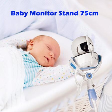 Flexible Baby Monitor Stand Bed Phone Holder Wall Mount Camera 75cm Lt.Blue