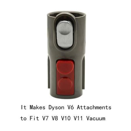 Image of Brush Adapter Converter for Dyson V7 V8 V10 Cordless Vacuum Cleaner Use Older Tools attachments(ONLY Fit for Non-Motorized Attachment)