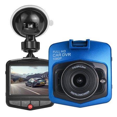 Image of Car DashCam Vehicle Blackbox DVR 1080P HD 2.4 Inch Screen Col.Blue