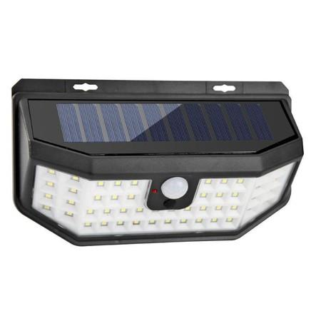 Image of Led Solar outdoor motion sensor lights upgraded Solar Panel 3 modes(Security/ Permanent On all night/ Smart brightness control ) with Wide Angle