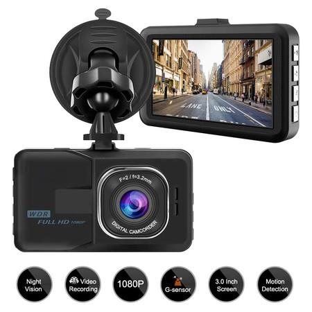 Image of Dash Camera for Cars Recorder, Video Dash Cam 3 Inch 1080P Full HD Wide Angle Driving Recorder with Night Vision WDR G-Sensor Parking Monitor Loop Recording Motion Detection