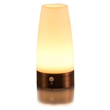 Image of LED Night Light Wireless PIR Motion Sensor Light,Activated Step lighting Lamps(Round Shape)