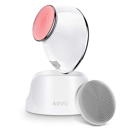 Image of Facial Cleansing Brush 6X Deeper Cleanse 2 in 1 Heated Massager & Sonic Vibrations (White)