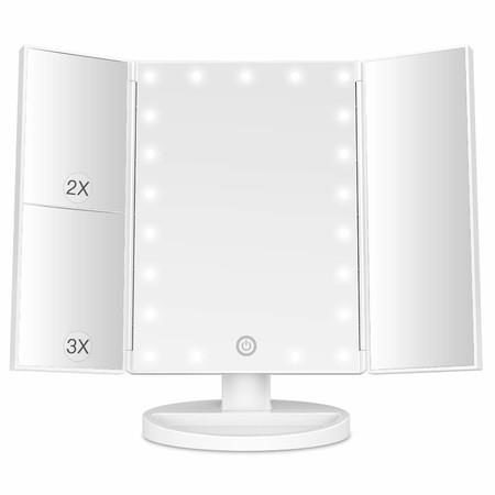 Image of Makeup Mirror with Lights 21 Led Light Up Mirror with 2X/3X Magnification Vanity Mirror(White)