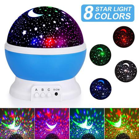 Image of Night Light for Kids, Moon Star Projector for Baby Kids Women, Christmas Party Bedroom Decoration