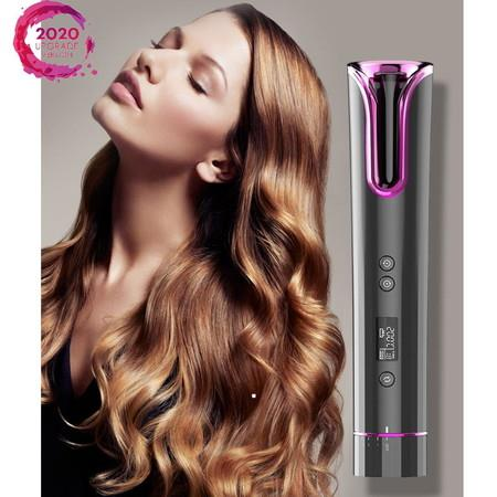 Image of 2020 Exclusive Cordless Automatic Hair Curlers Rollers Ceramic Barrel TYPE-C 4800mAh