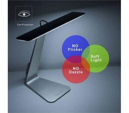 Image of 5mm Ultra-thin LED Usb Charging Light Rechargeable Eye-protection Portable Desk Lamp-Dark gray