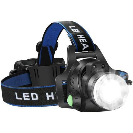 Image of Headlamp Flashlight, USB Rechargeable Led Head Lamp, IPX4 Waterproof T004 Headlight with 4 Modes