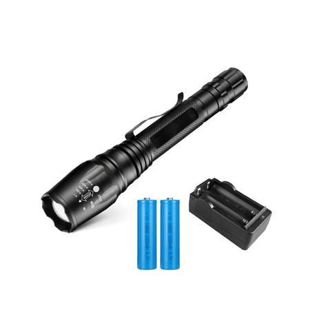 Image of Rechargeable Led Flashlight Waterproof Zoomable Bright Flashlight for Outdoor