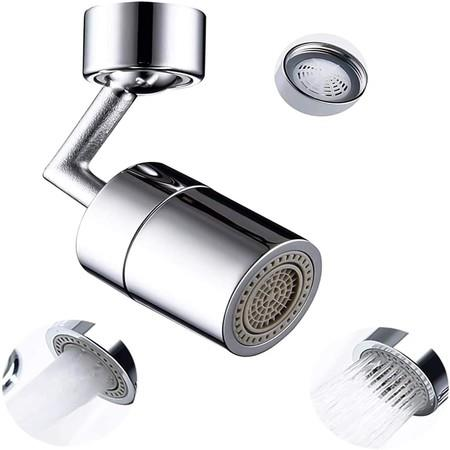 Image of 720 degree Rotatable Universal Splash Filter Faucet, Anti-Splash, 2-Layer Net Filter, Double O-Ring Leakproof