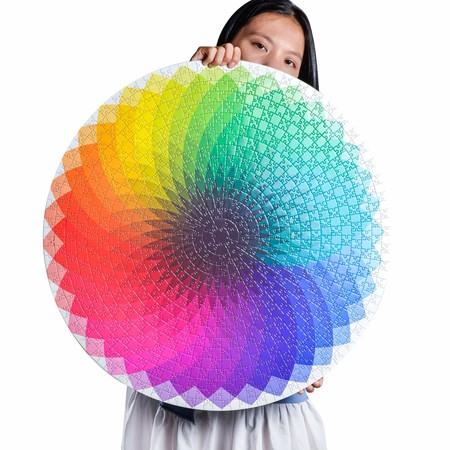 Image of 1000pcs Puzzle Jigsaw without frame 68*68cm # rainbow GRADIENT