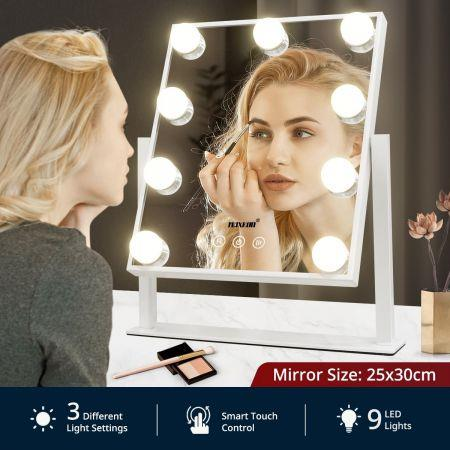 Image of Maxkon Hollywood Style Makeup Mirror Lighted Vanity Mirror with 9 LED Lights