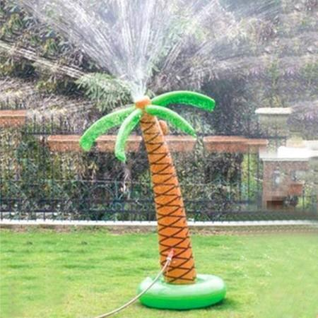 Image of 155cm Inflatable Palm Tree Sprinkler Outdoor Party Sprinkler Water Toys for Boys Girls