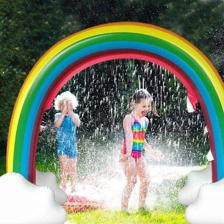 Image of Rainbow Sprinkler Outdoor Inflatable Pools Summer Sprinkler Toys 280*80*160cm