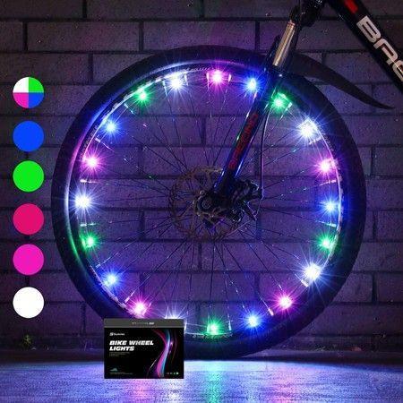 Image of 2-Tire Pack LED Bike Wheel Lights Bike Spoke Light Super Bright Cycling Bicycle Light