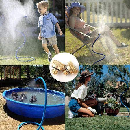 Flex Outdoor Water Mist 6.5Ft Sprinklers Hose Cooling System