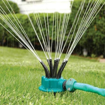 Green Garden Sprinkler Easy Connection Automatic 360 Rotating