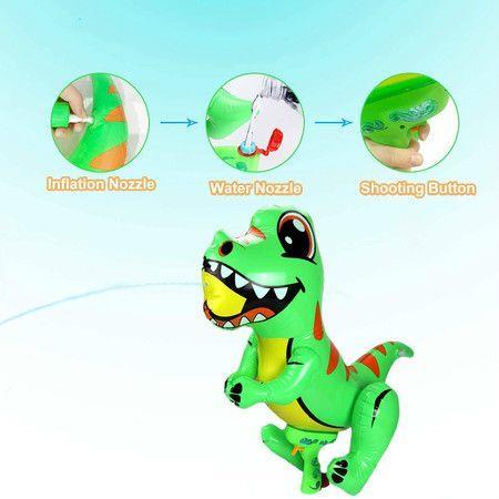 Image of Water Gun for Kids,Inflatable Dinosaur Squirt Gun Water Blaster,Summer Water Fighting Pistol for Kids & Adults