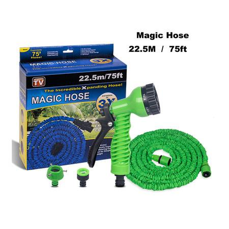 Image of Garden Hose75ft(22.5M), Flexible Expanding Hose with Free Water Spray Nozzle