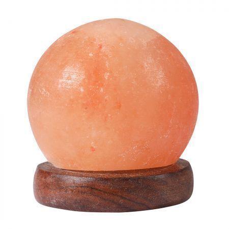 Image of Himalayan Salt Lamp Globe USB Natural Crystal Rock Cord Night Light Lamps Globes