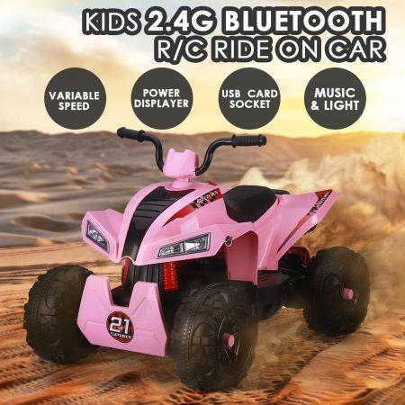 12V Kids Electric Ride On Car ATV Battery Toy w/MP3 Bluetooth Radio