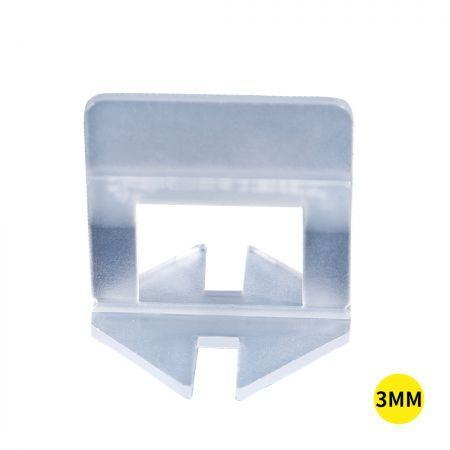Image of 1000x 3MM Tile Leveling System Clips Levelling Spacer Tiling Tool Floor Wall