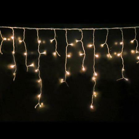 Image of 300 LED Curtain Fairy String Lights Wedding Outdoor Xmas Party Lights Warm White