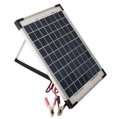 Image of 12V 10W Solar Panel Kit MONO Caravan Regulator RV Camping Power Charging