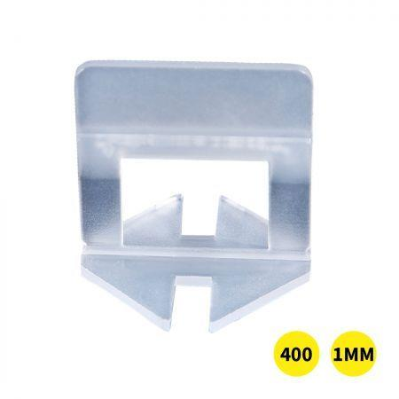 Image of 400x 1MM Tile Leveling System Clips Levelling Spacer Tiling Tool Floor Wall
