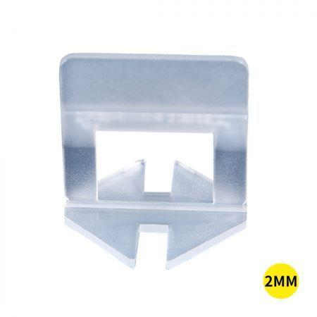 Image of 400x 2MM Tile Leveling System Clips Levelling Spacer Tiling Tool Floor Wall