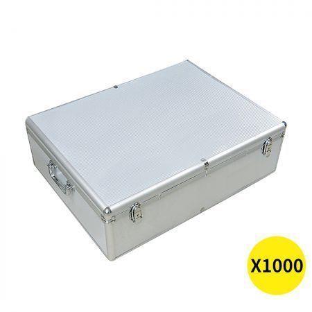 Image of 1000 Discs Aluminium CD DVD Cases Bluray Lock Storage Box Organizer Free Inserts