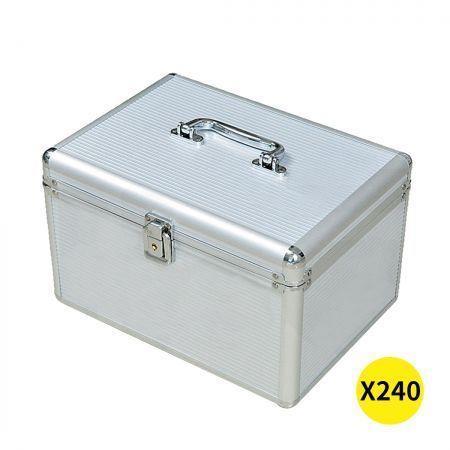 Image of 240 Discs Aluminium CD DVD Cases Bluray Lock Storage Box Organizer Free Inserts