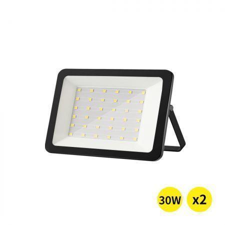 Image of Emitto LED Flood Light 30W Outdoor Floodlights Lamp 220V-240V Cool White 2PCS