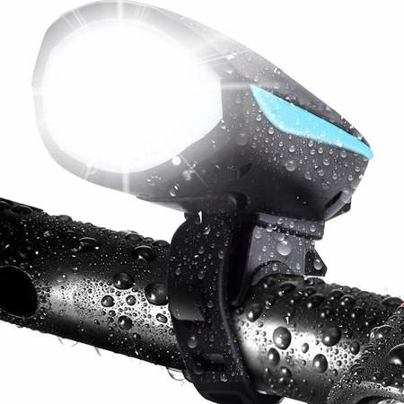 Image of Bike Light with Loud Bike Horn, Rechargeable Bicycle Light Waterproof Cycling Lights, Bicycle Light Front with Loud Sound Siren, 3 Lighting Modes 2 Sounds