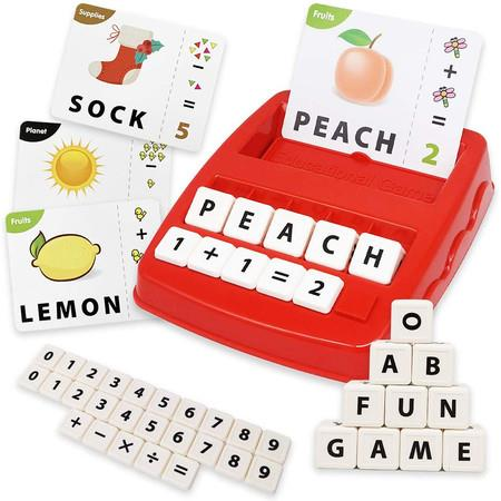 Image of 2 in 1 Matching Letter Game And Learning Educational Toys Games for Kids Ages 3 4 5 6 Years Old (Red)