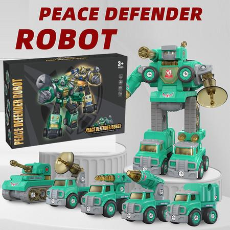 Image of Transformers Robot 5 in 1 STEM Learning Construction Toys Gift Toy for Kids Aged 3+ Lt.Green