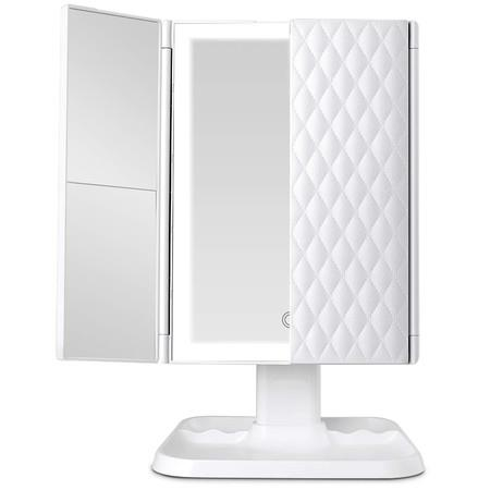 Image of 2021 NEW Makeup Mirror 1x/2x/3x Magnification with 68LED Trifold Mirror